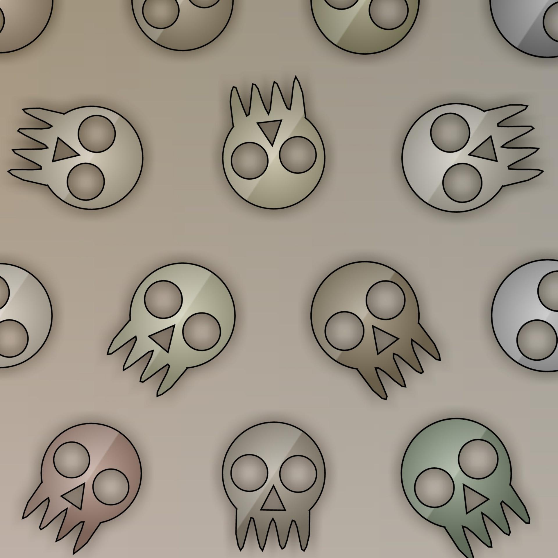 Wallpaperskullsdesignpatternart Free Image From