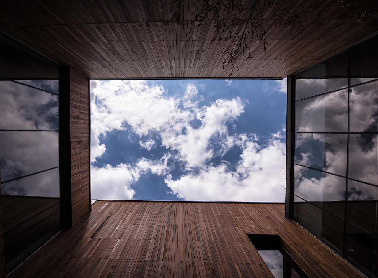 sky window square free photo