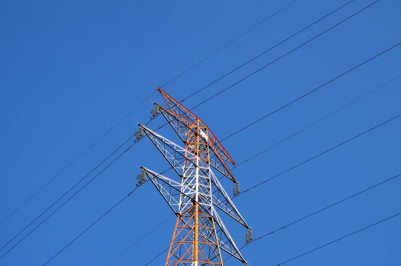 sky frontline power transmission tower free picture