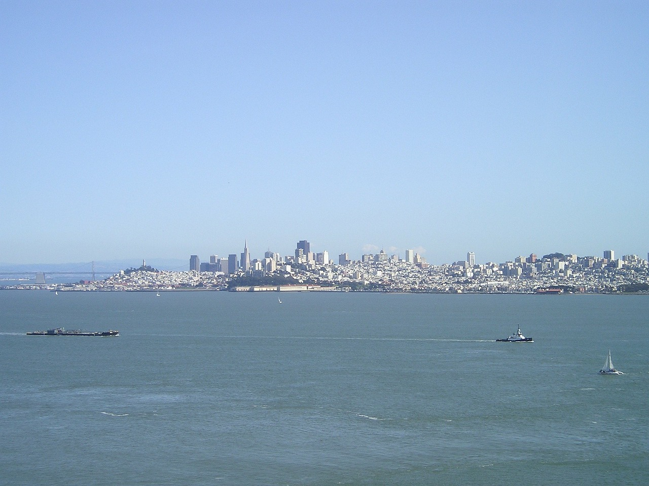 skyline sea san francisco free photo