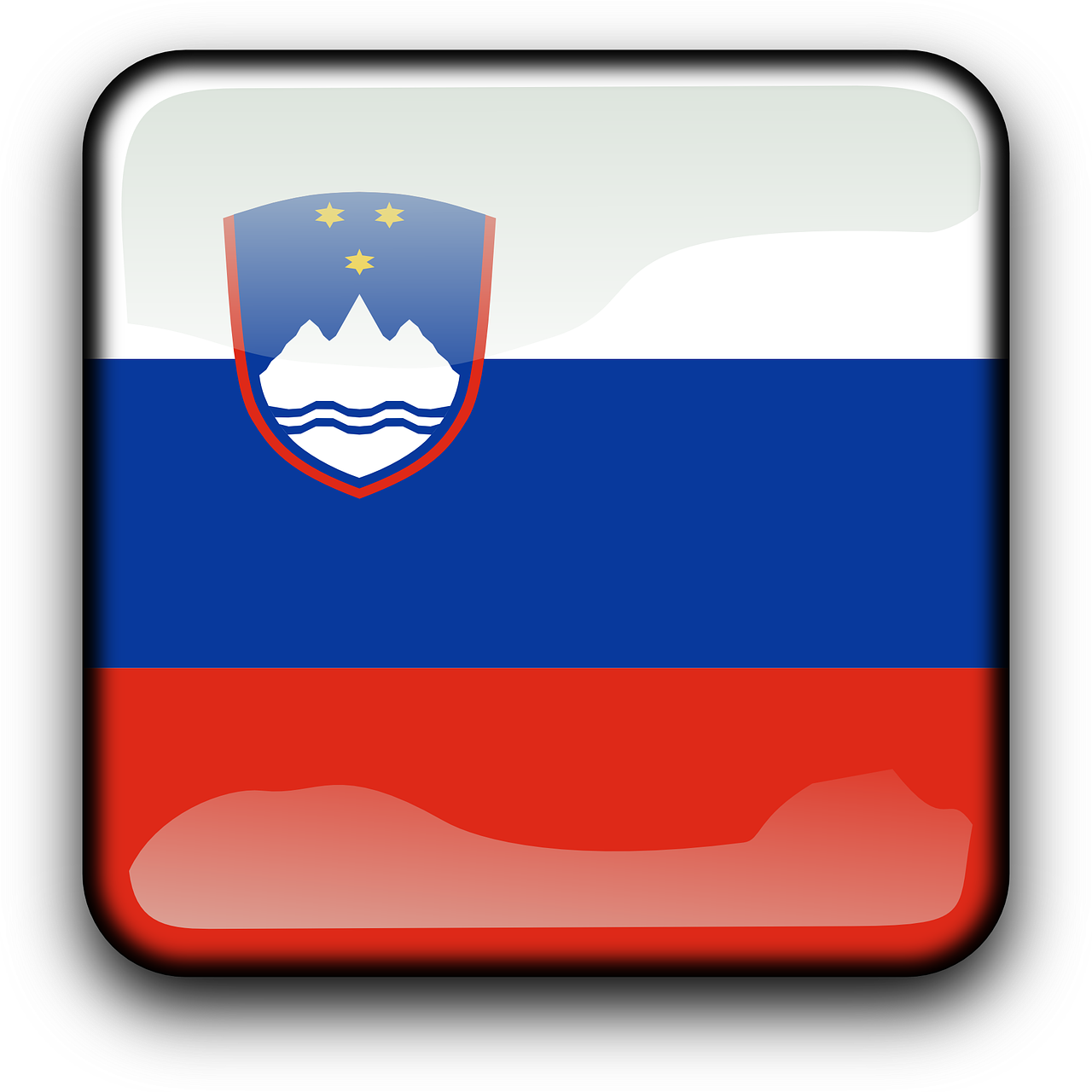 slovenia,flag,country,nationality,square,button,glossy,free vector graphics,free pictures, free photos, free images, royalty free, free illustrations, public domain