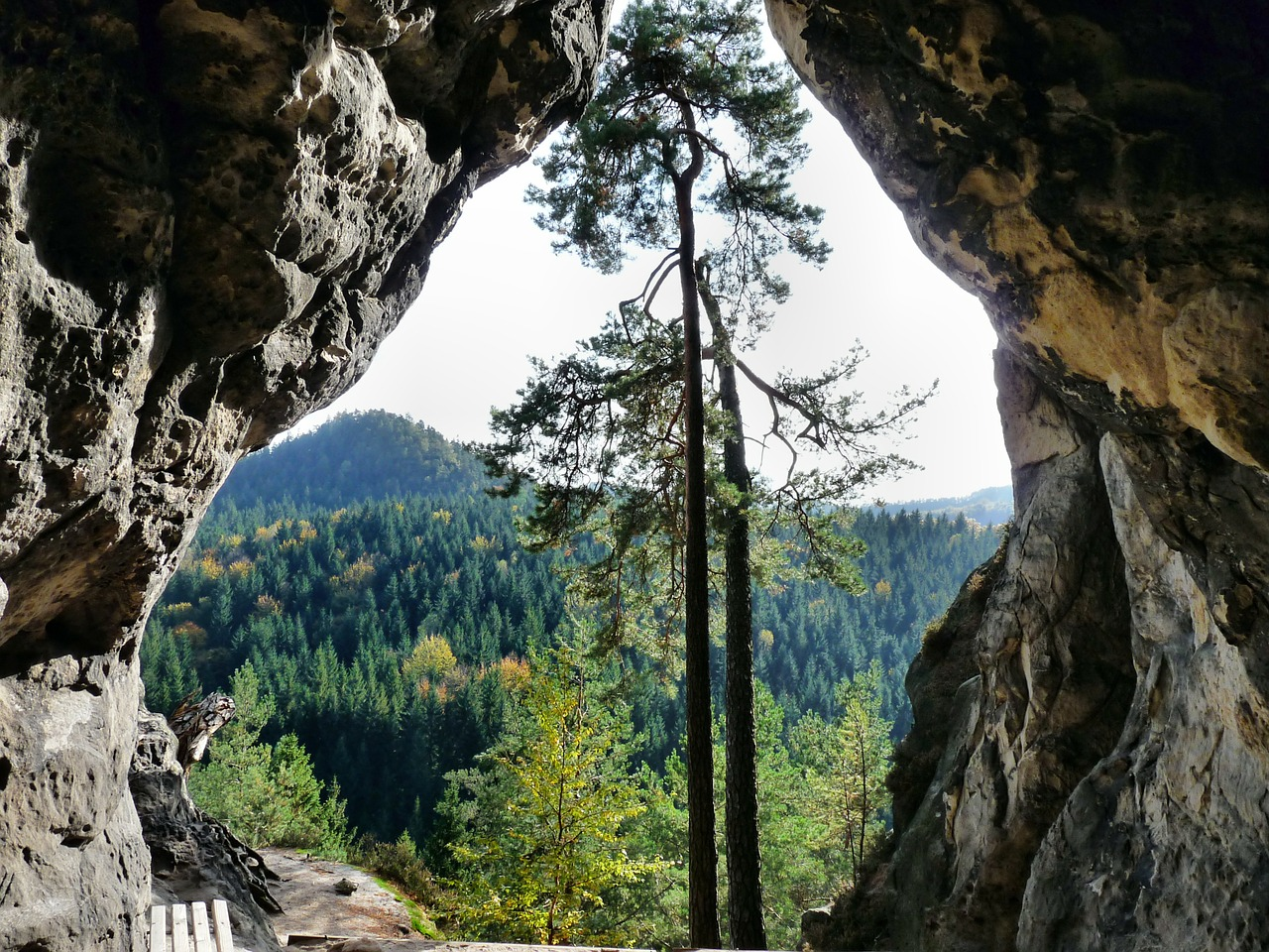 small stone cave rock climb free photo