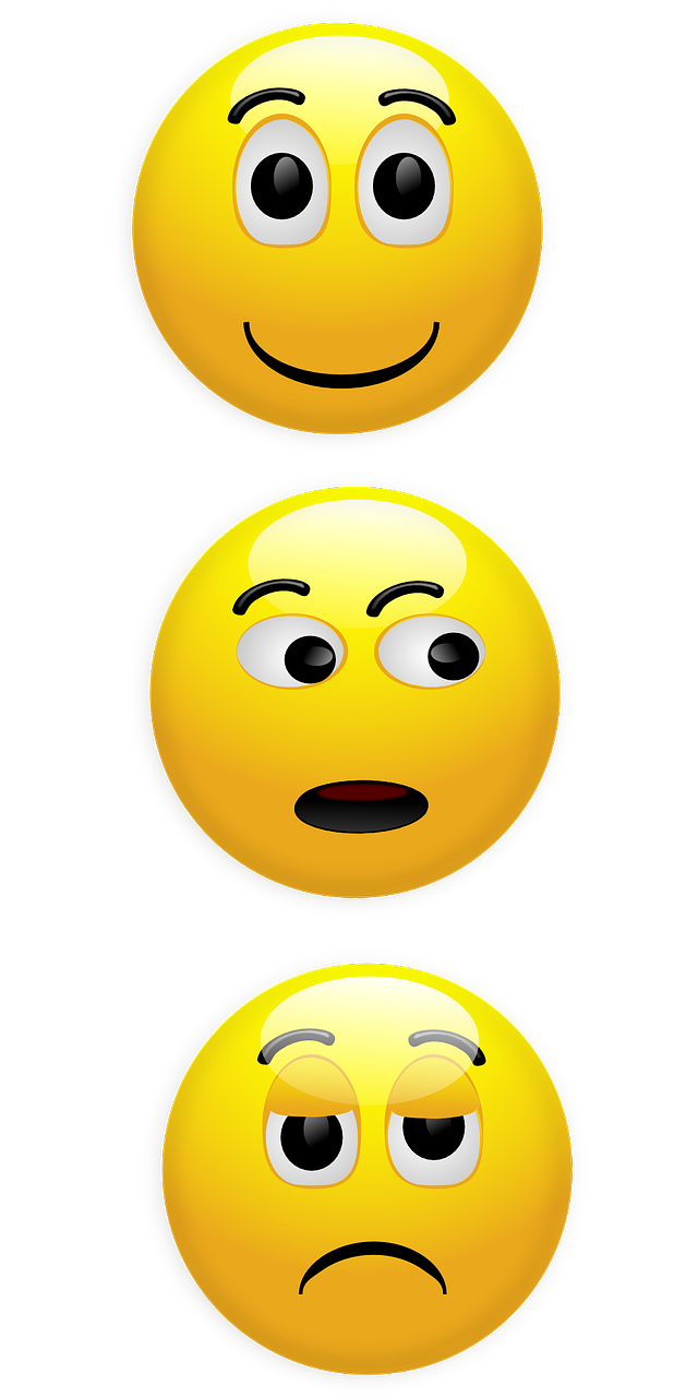 smiley,happy,unhappy,wondering,looking,yellow,glossy,round,free vector graphics,free pictures, free photos, free images, royalty free, free illustrations, public domain