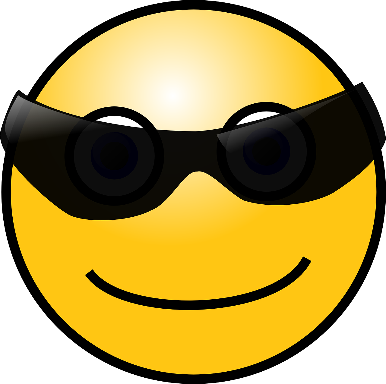 smiley sunglasses face free photo