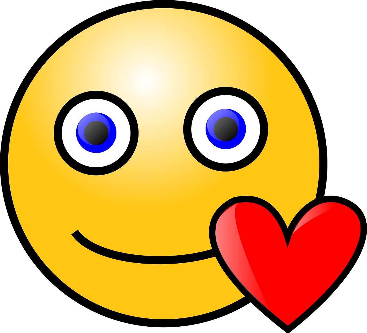 smiley,love,heart,red,romantic,romance,expressions,emotions,yellow,face,head,valentine,free vector graphics,free pictures, free photos, free images, royalty free, free illustrations, public domain