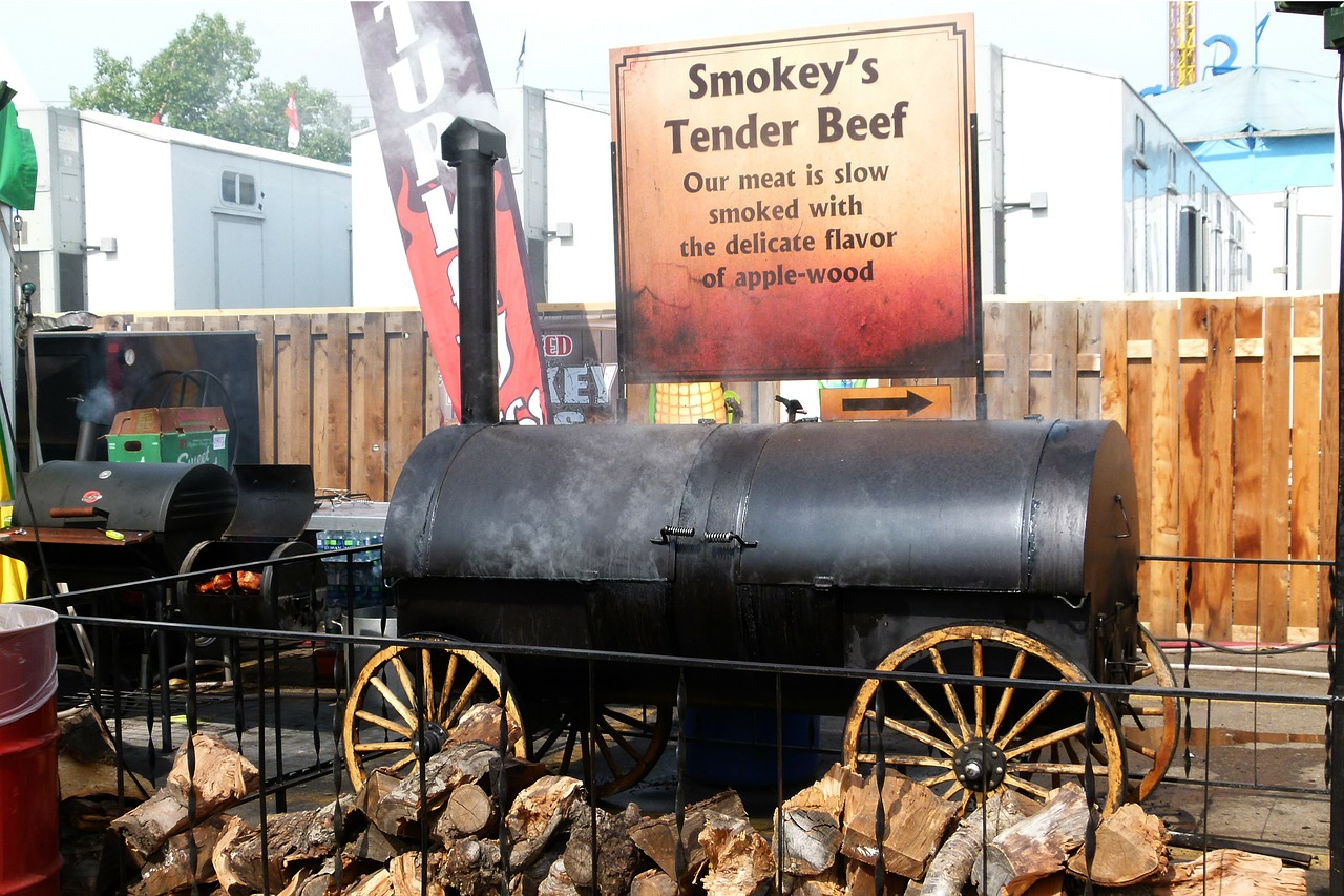 smoking bbq tender beef free photo