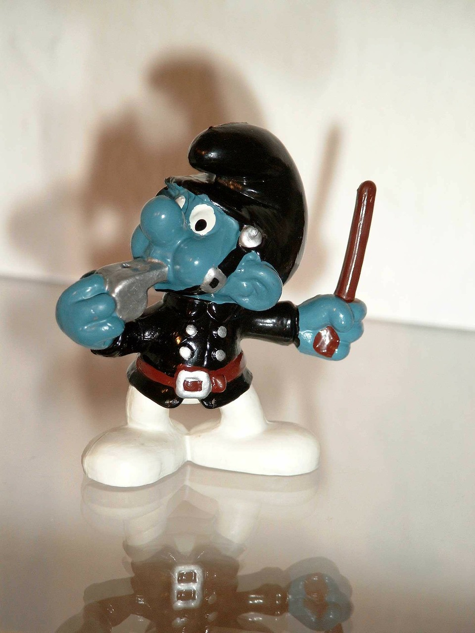smurf constable uniform free photo
