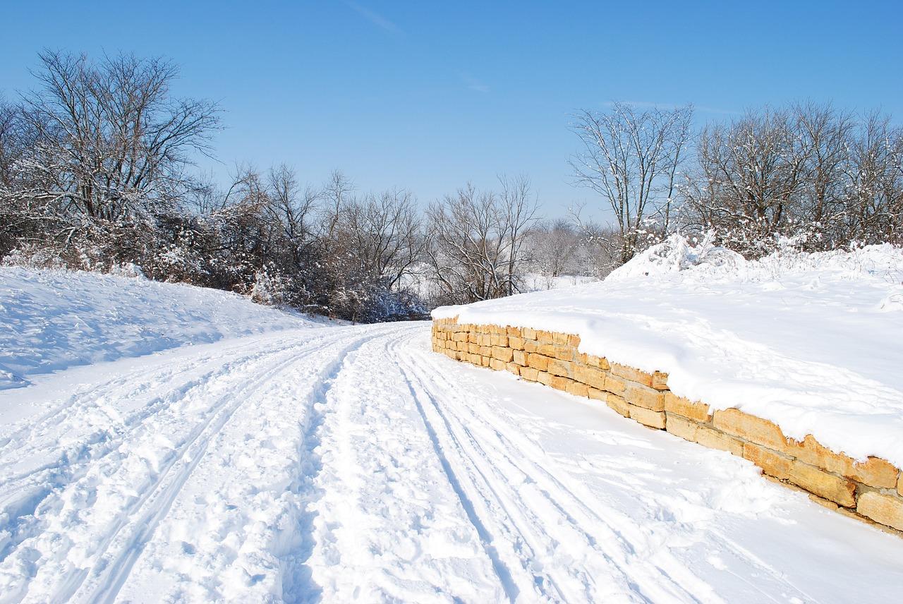 снежная тропинка фото зимние выполнены