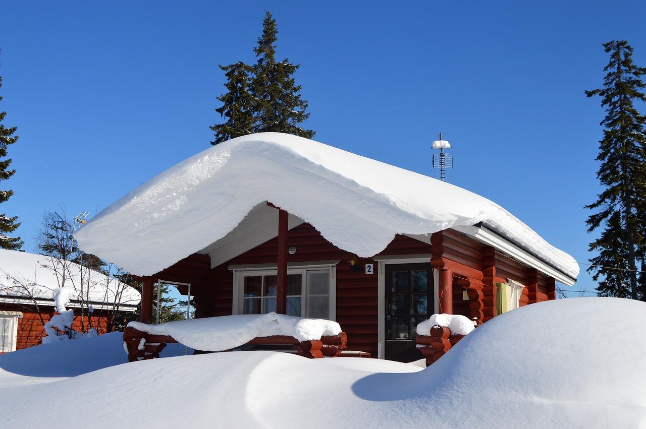 Зима коттедж картинки