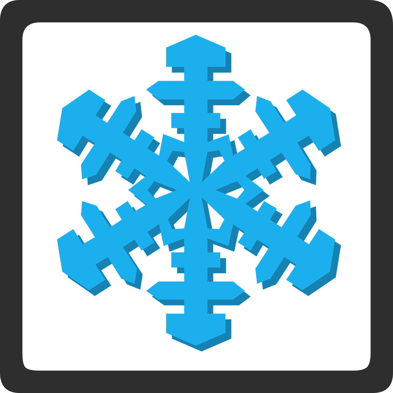 snow flake sign free photo