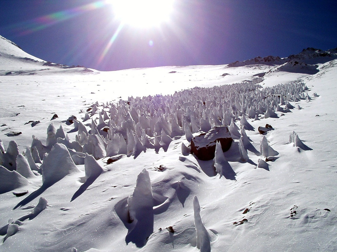 snow ice penitentes free photo