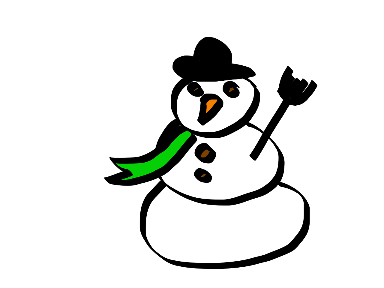 snow man cartoon white free photo