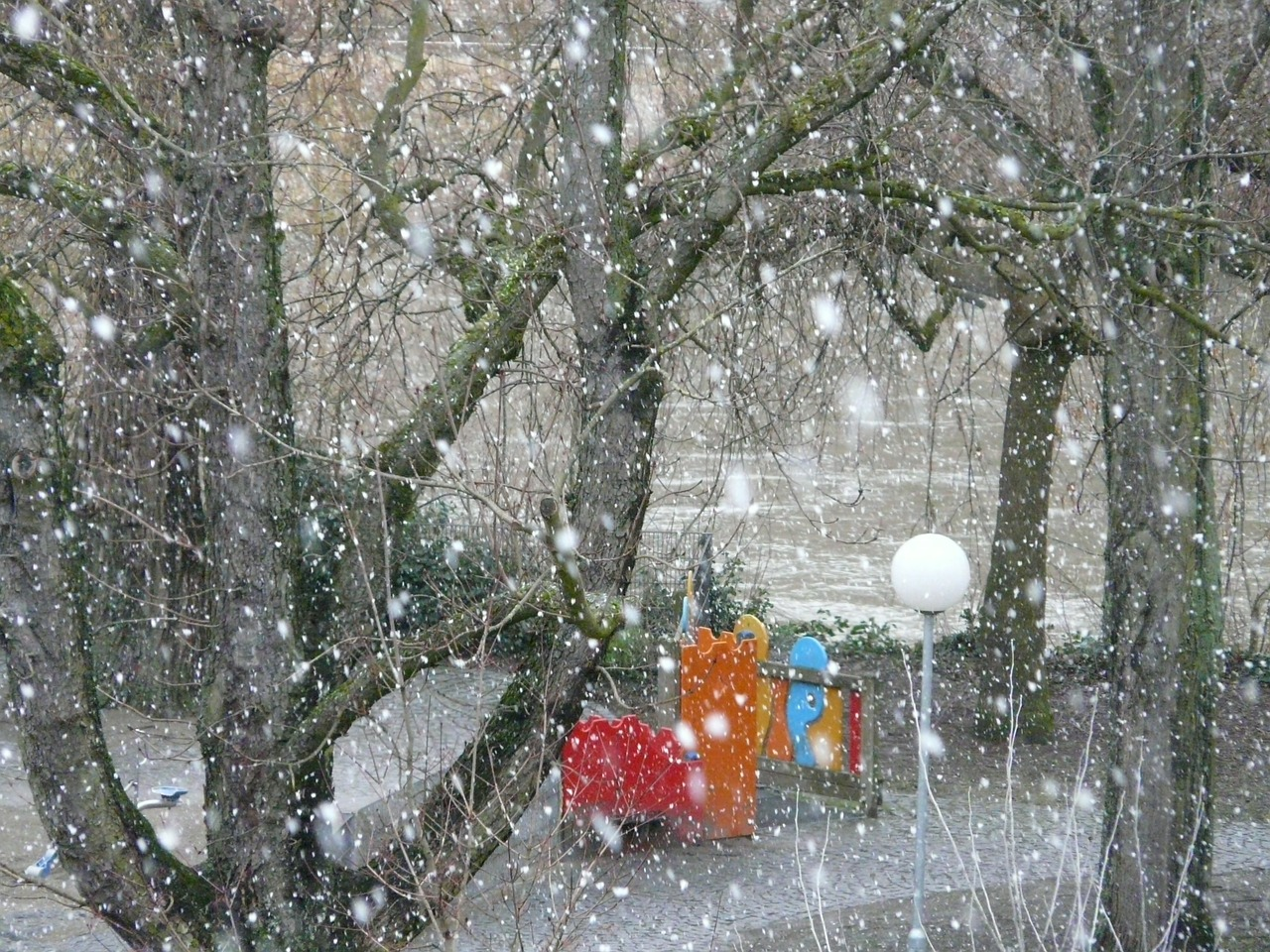 snowfall snow snowflakes free photo