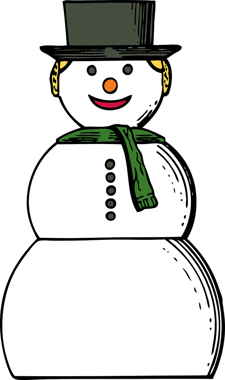 snowman winter holiday free photo