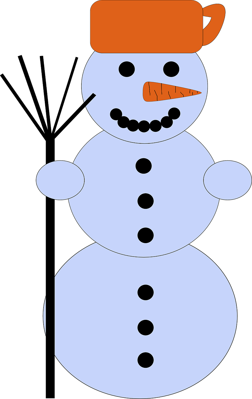 snowman winter cold free photo