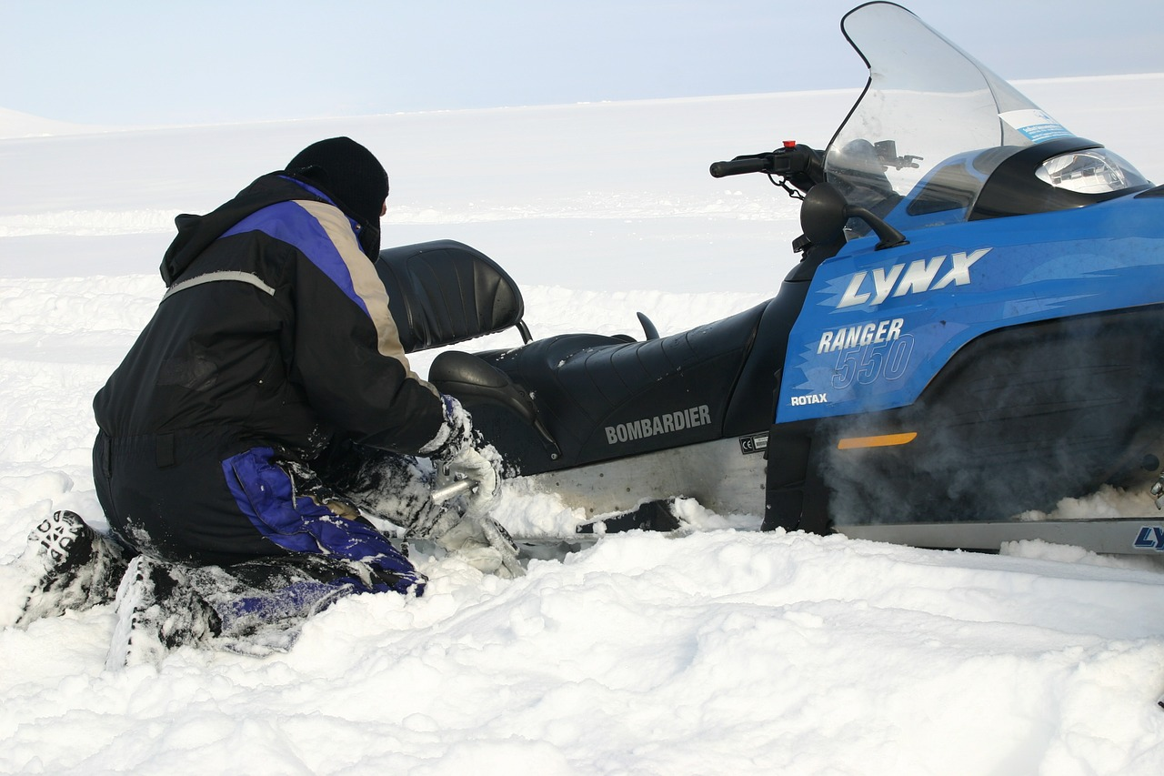 snowmobile risk scooter free photo