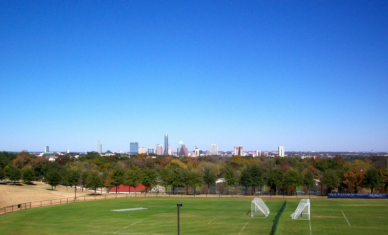 soccer field austin texas free photo