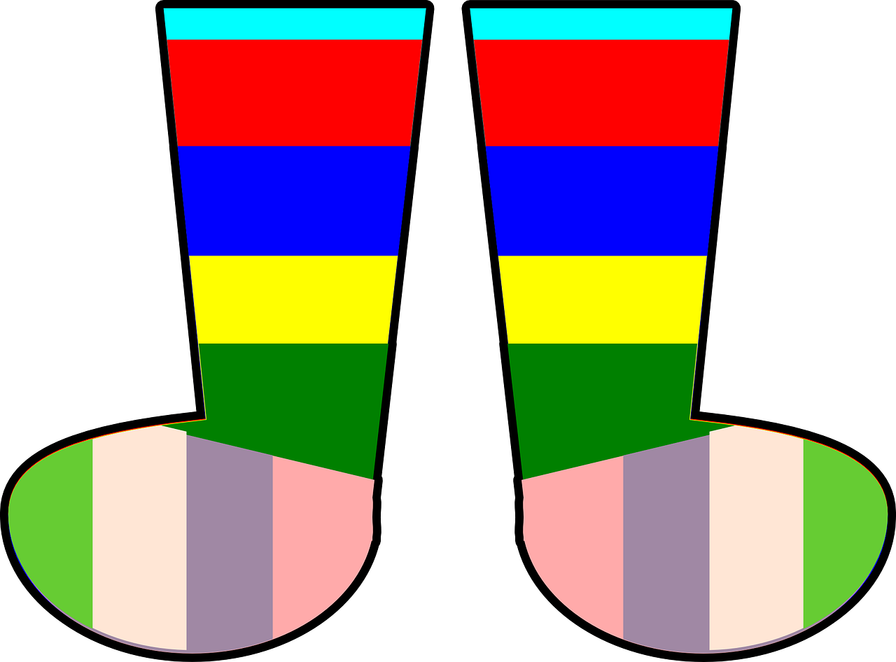 socks rainbow footwear free photo