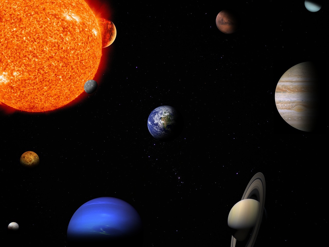 solar system planet space free photo