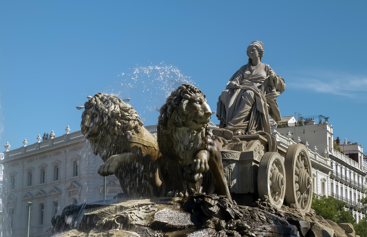 source cybele monument madrid free photo