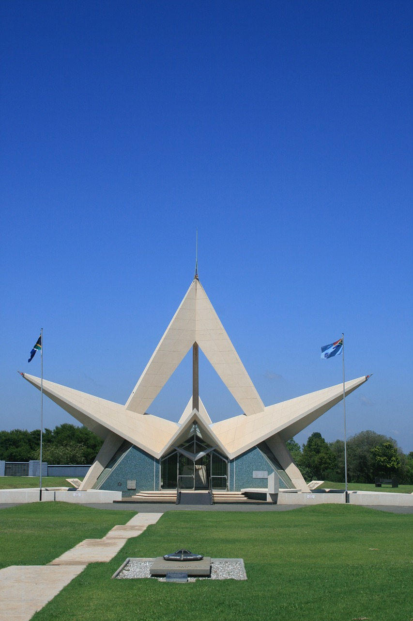 south african air force memorial monument star design free photo