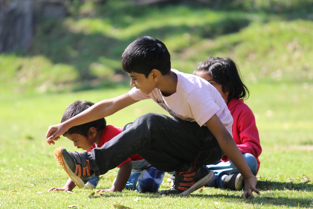 south indian kids  playing at park  indian kids free photo