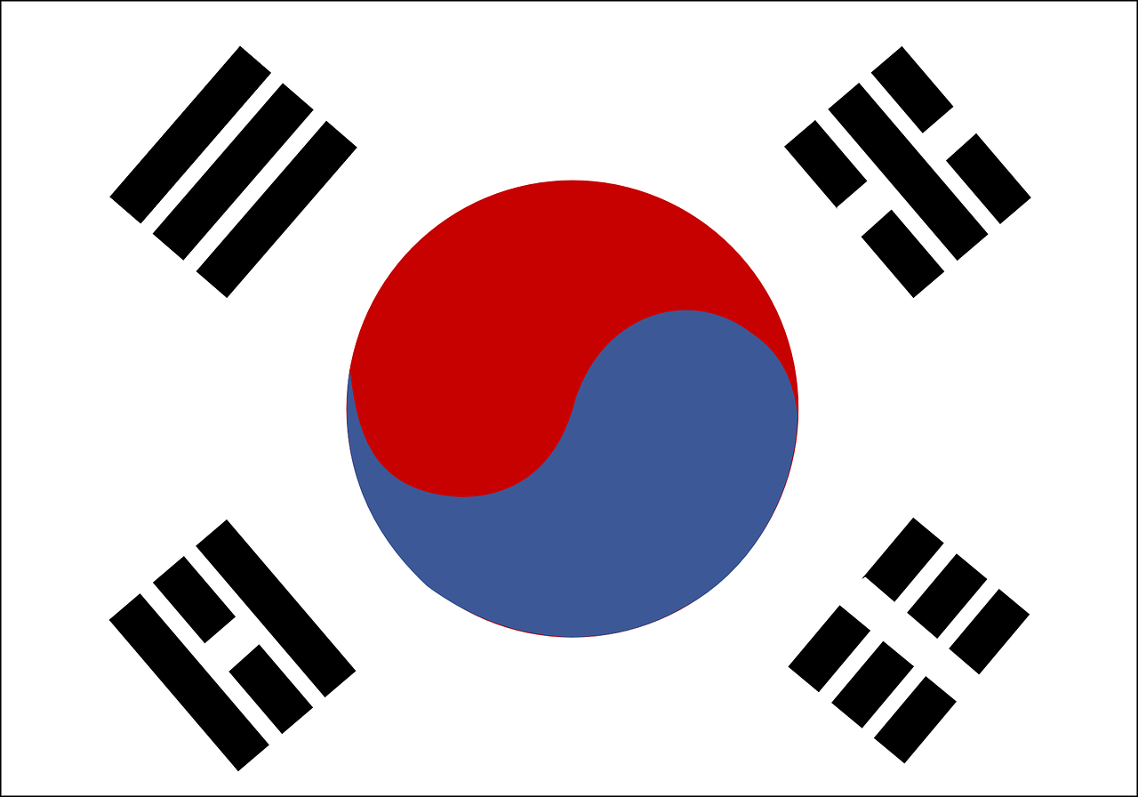 south korea,flag,republic of korea,nation,country,symbol,sign,icon,korean,national,asia,free vector graphics,free pictures, free photos, free images, royalty free, free illustrations, public domain