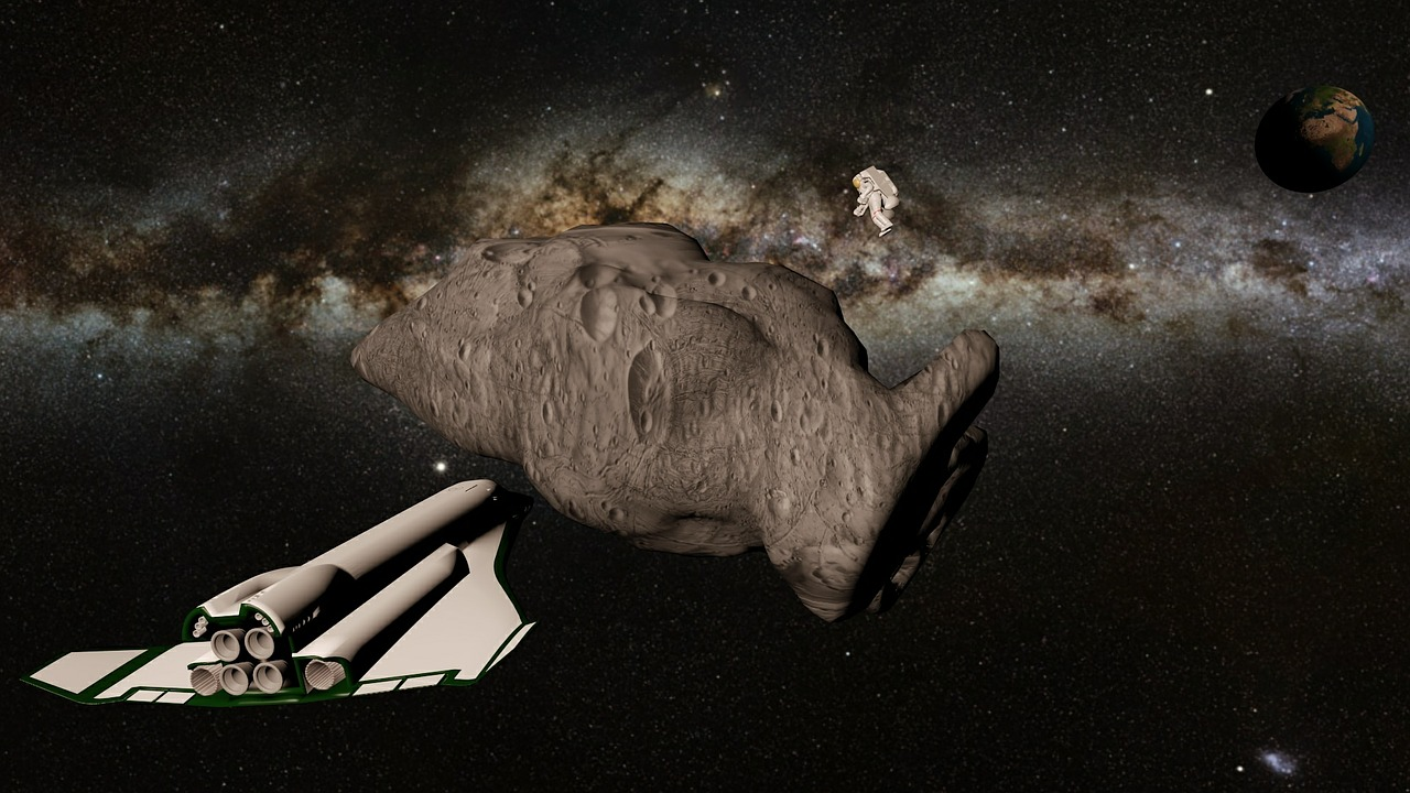 space spacecraft asteroid free photo
