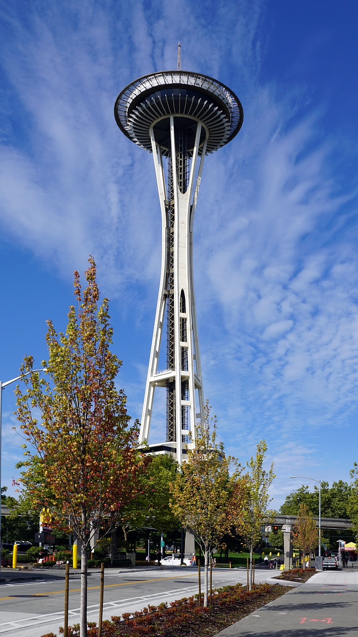 spaceneedle seattle america free photo