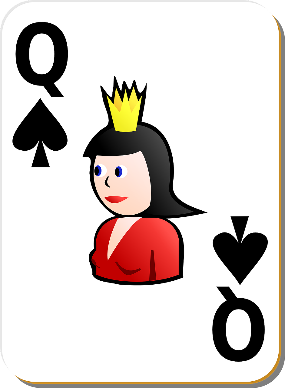 spade queen card free photo