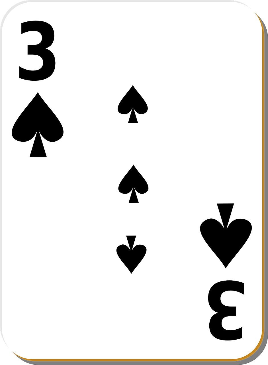 spades three playing cards free photo