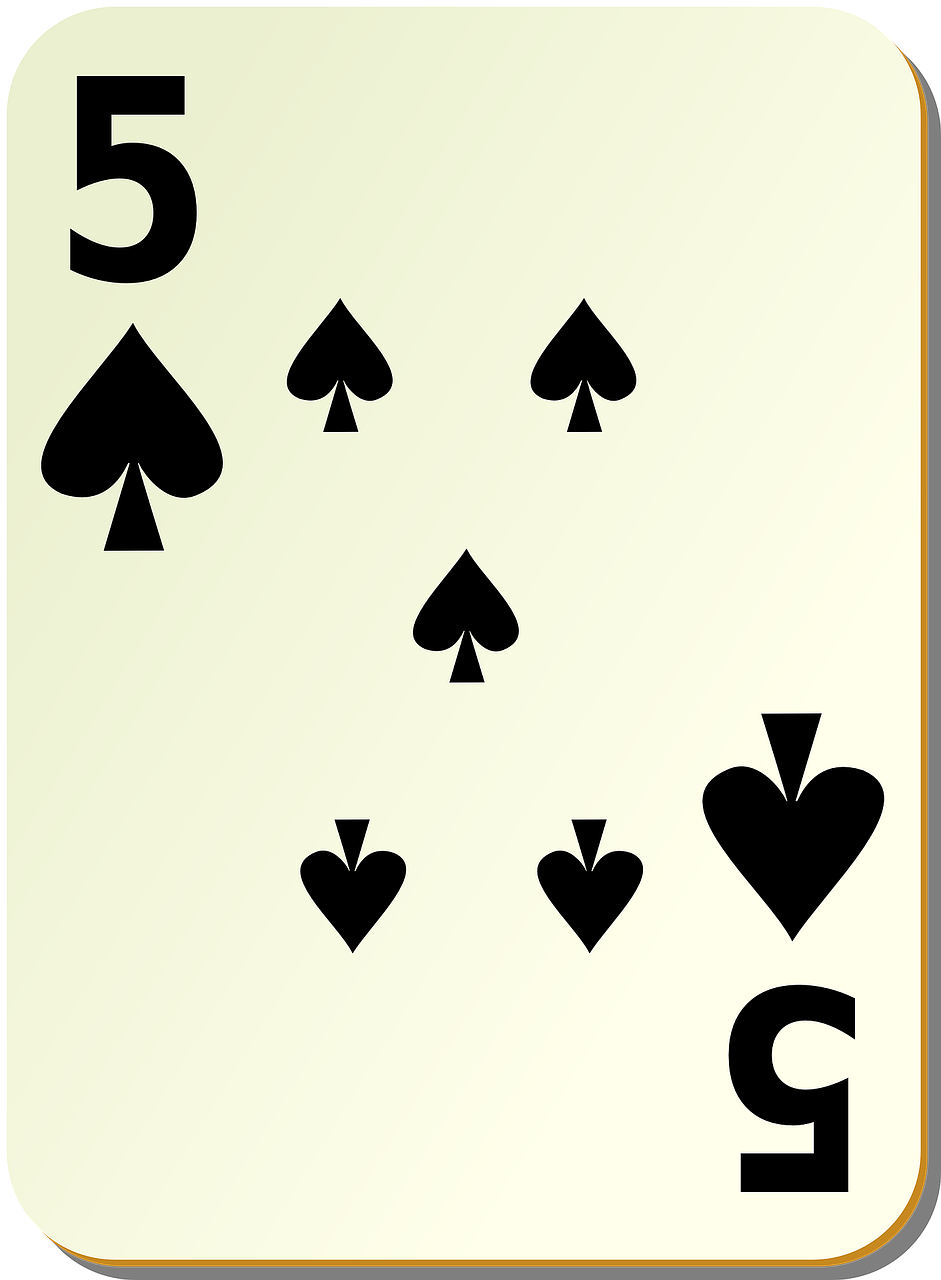 spades five 5 free photo
