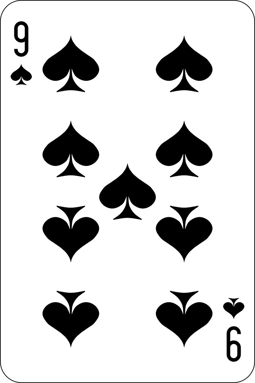 nine spade card  Spades,nine,deck,playing cards,game - free image from ...