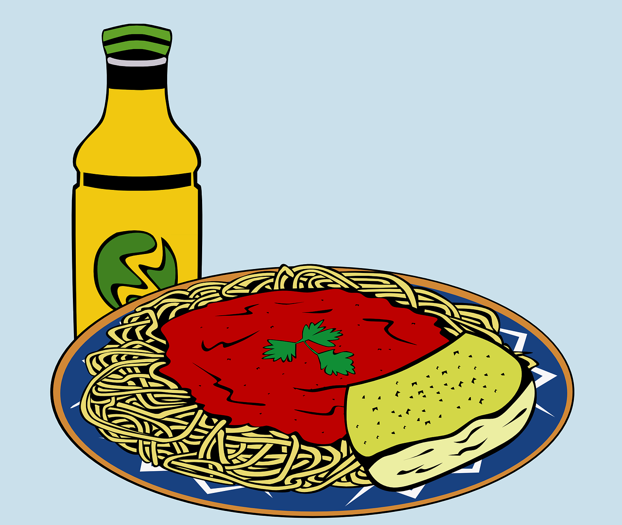 spaghetti pasta meal free photo