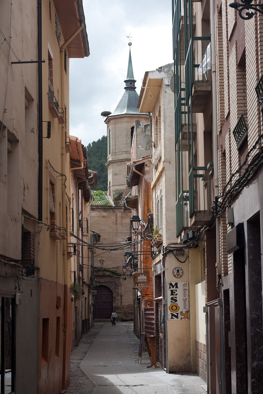 spain road old town free photo