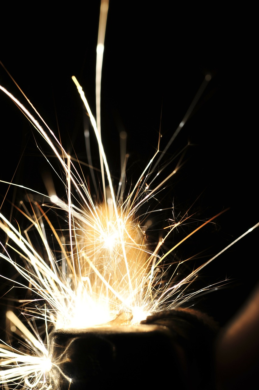 sparks fireworks welding free photo