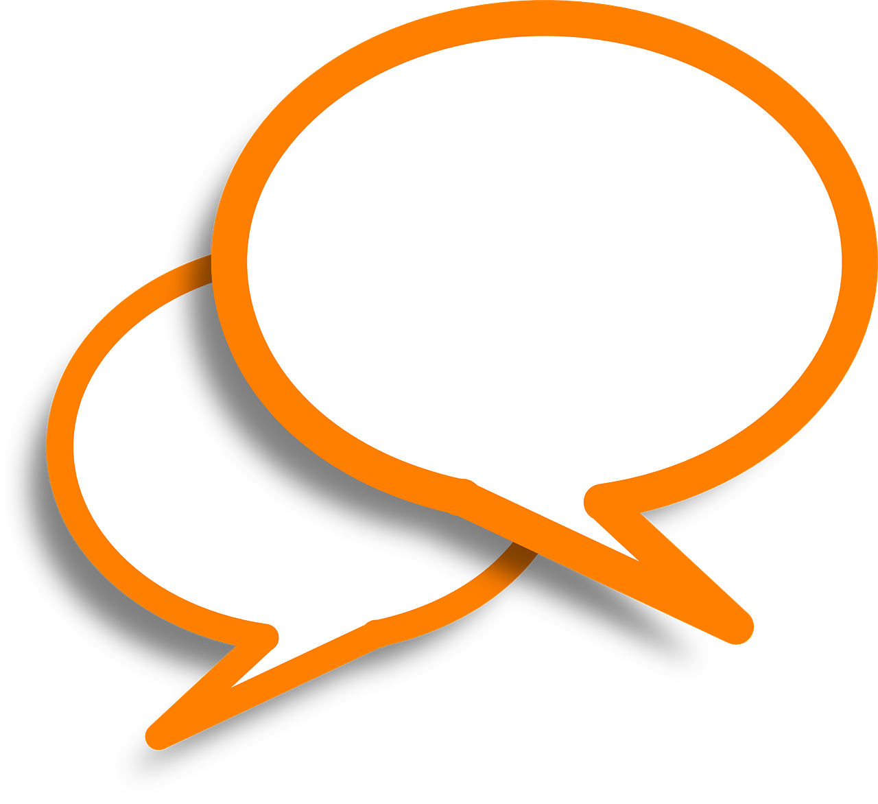 speech bubbles comments orange free photo