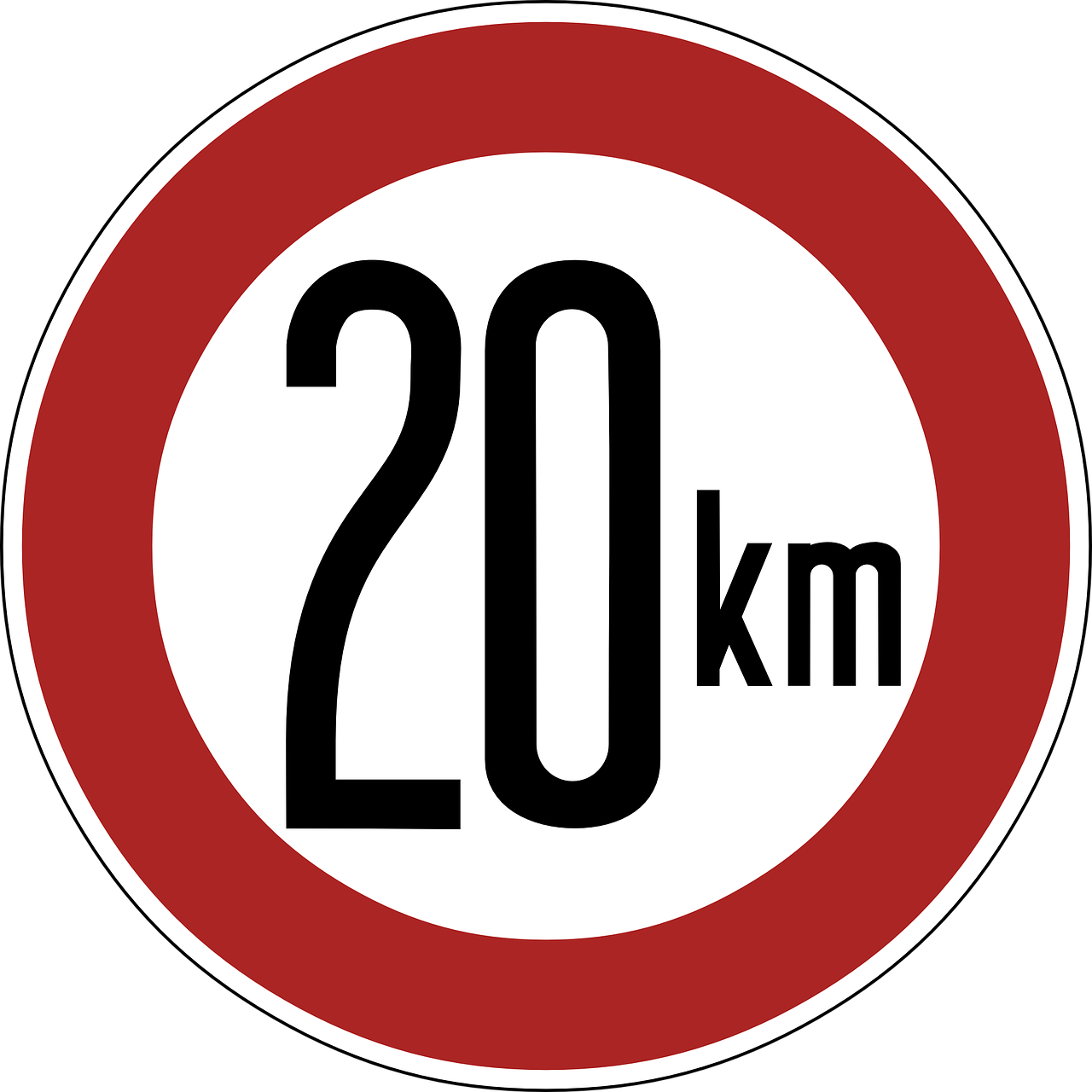 speed limit sign 20 km free photo
