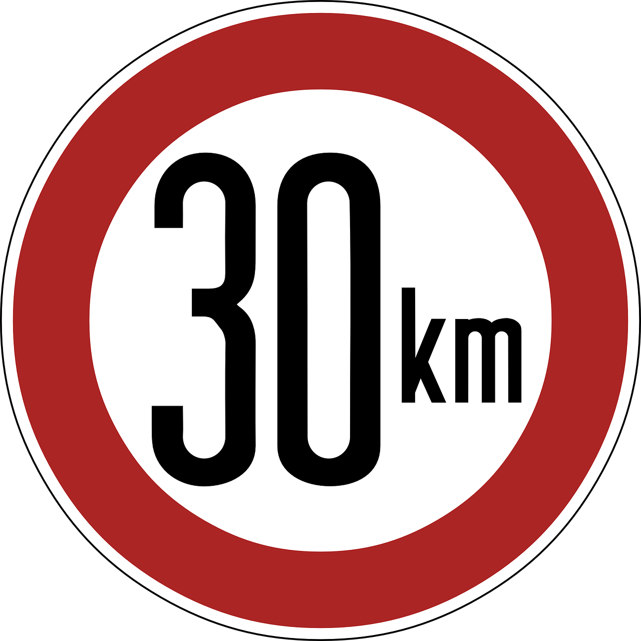 speed limit sign 30 km free photo