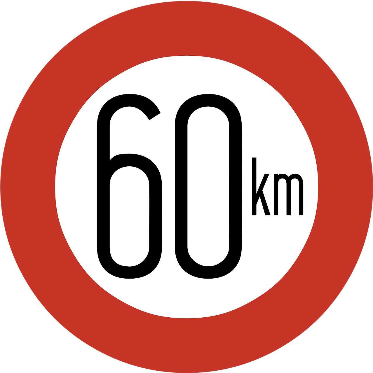 speed limit sign 60 km free photo