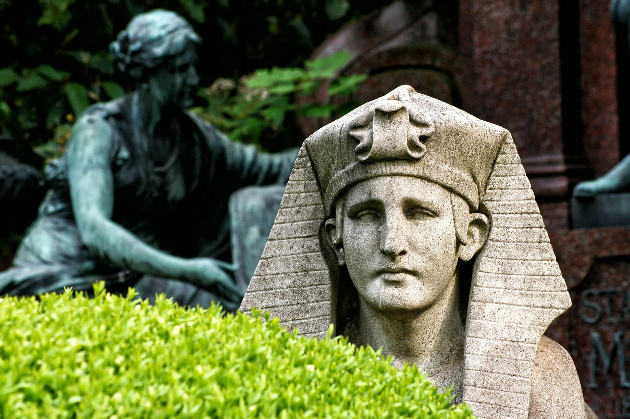 sphinx central cemetery vienna free photo
