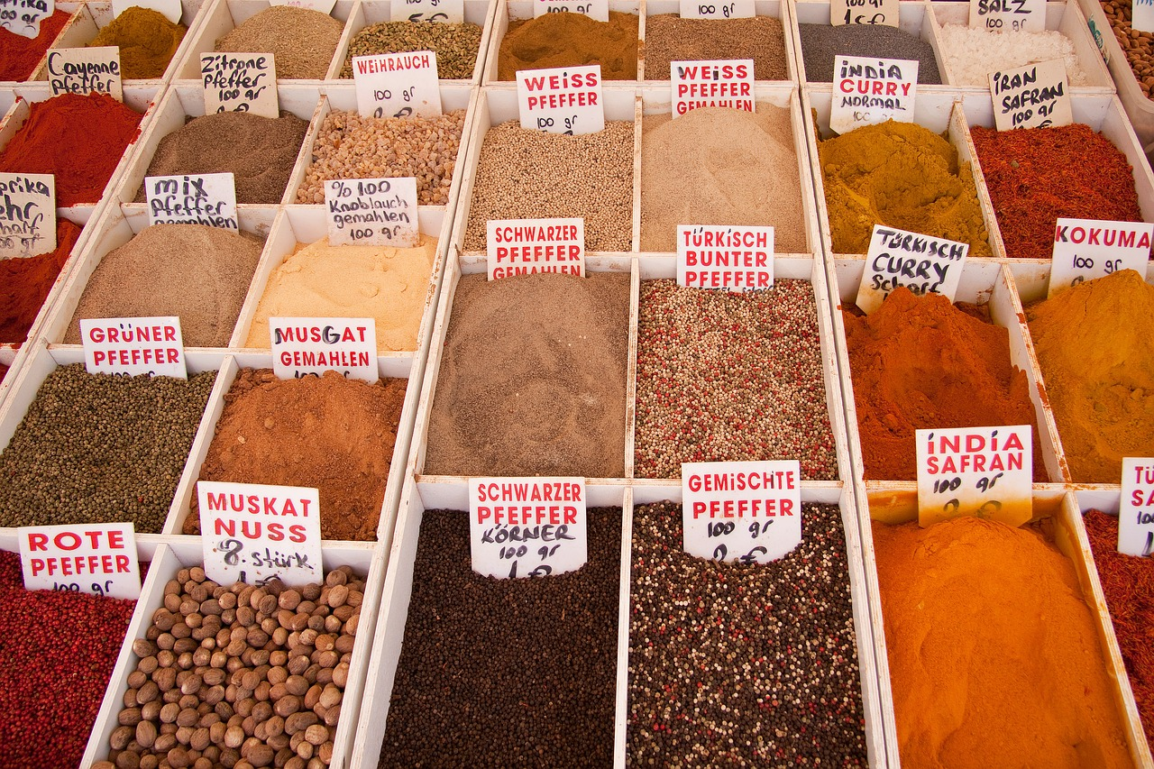 spices market bazaar free photo