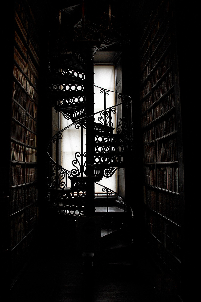 Spiral Staircase Stairs Trinity College Library Book Free Photo