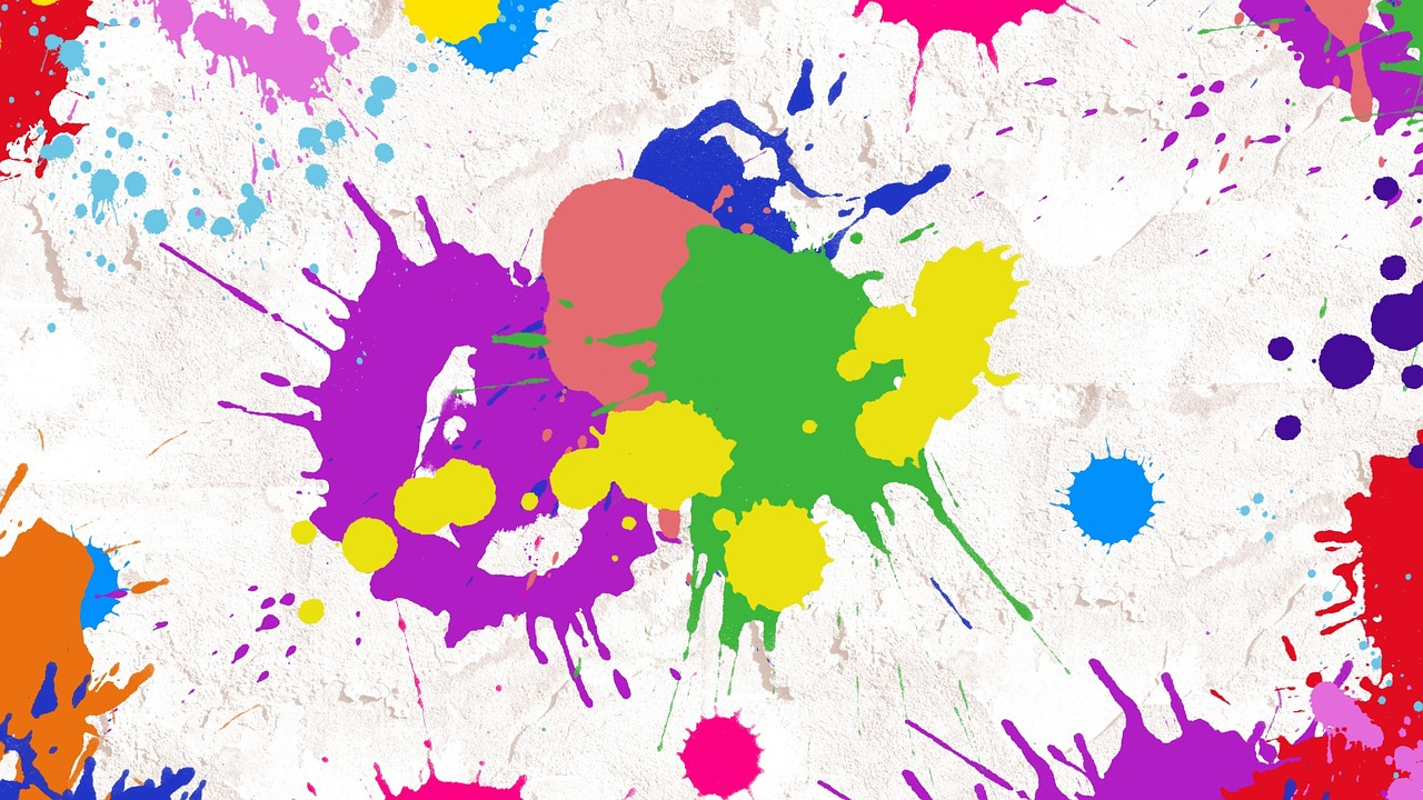 splatter paint abstract art free photo