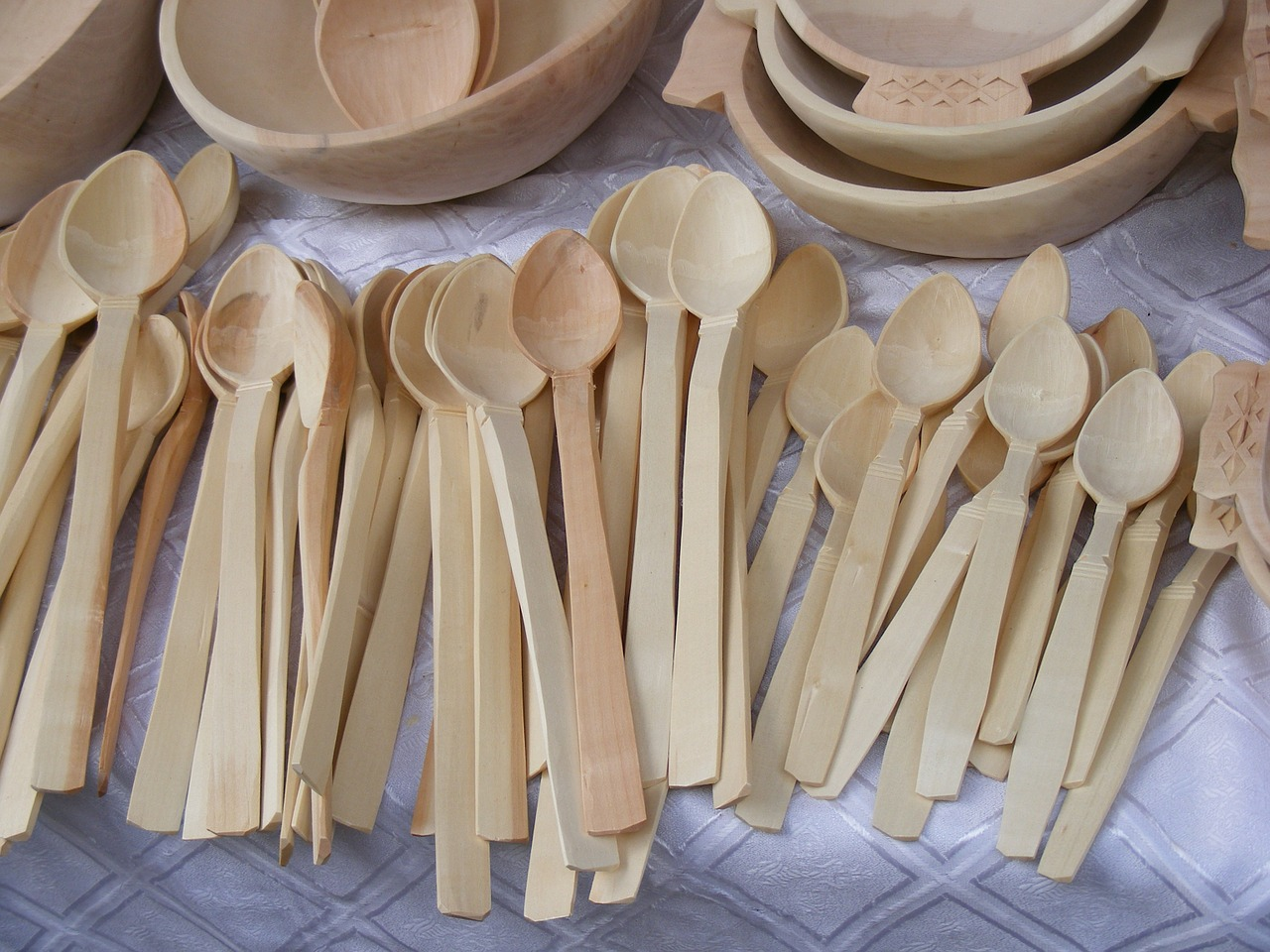 spoons dishes wood free photo