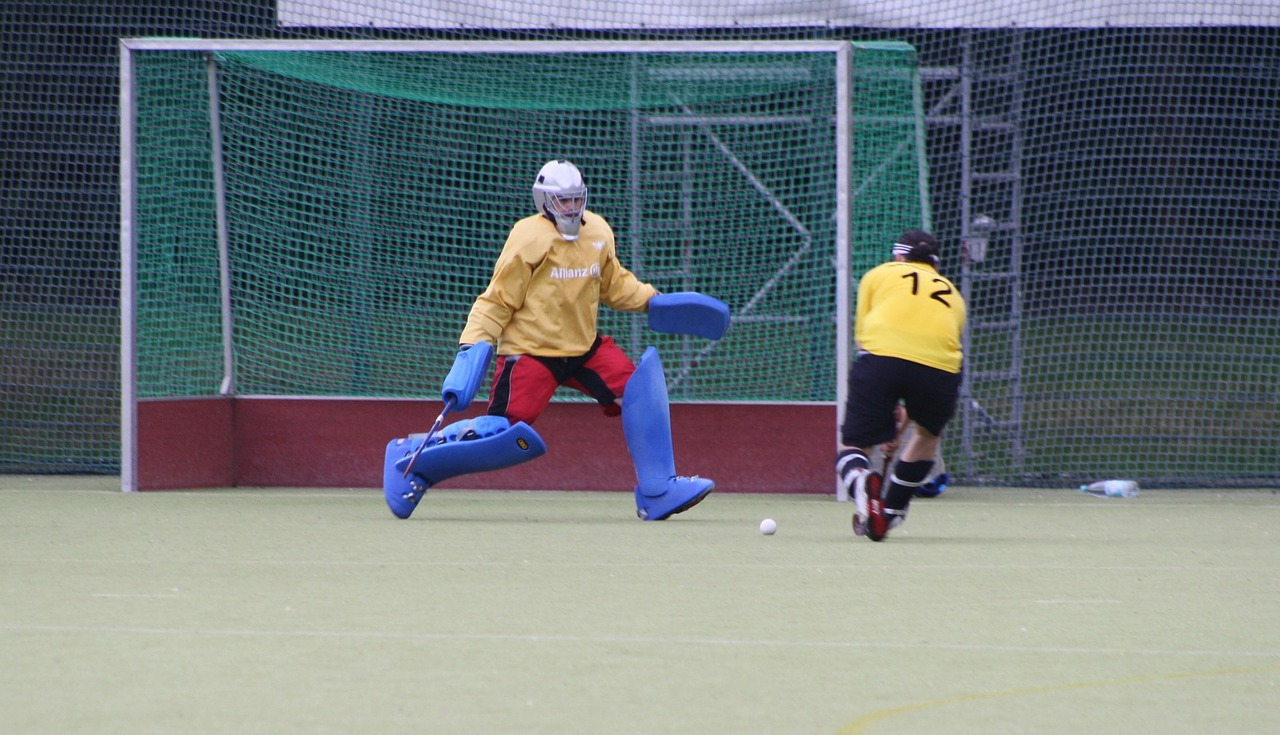 sport hockey goalkeeper free photo