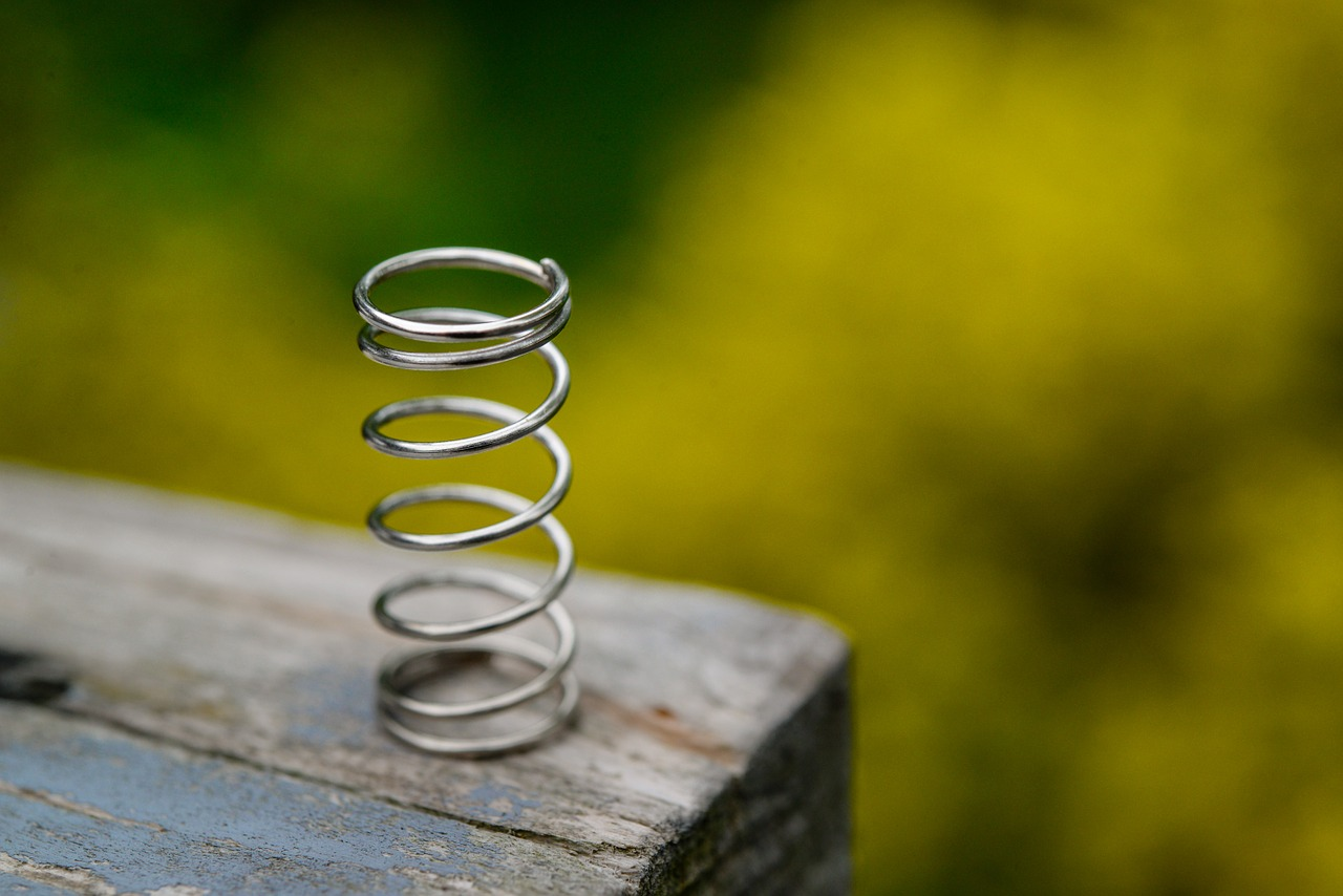 spring helical metal free photo
