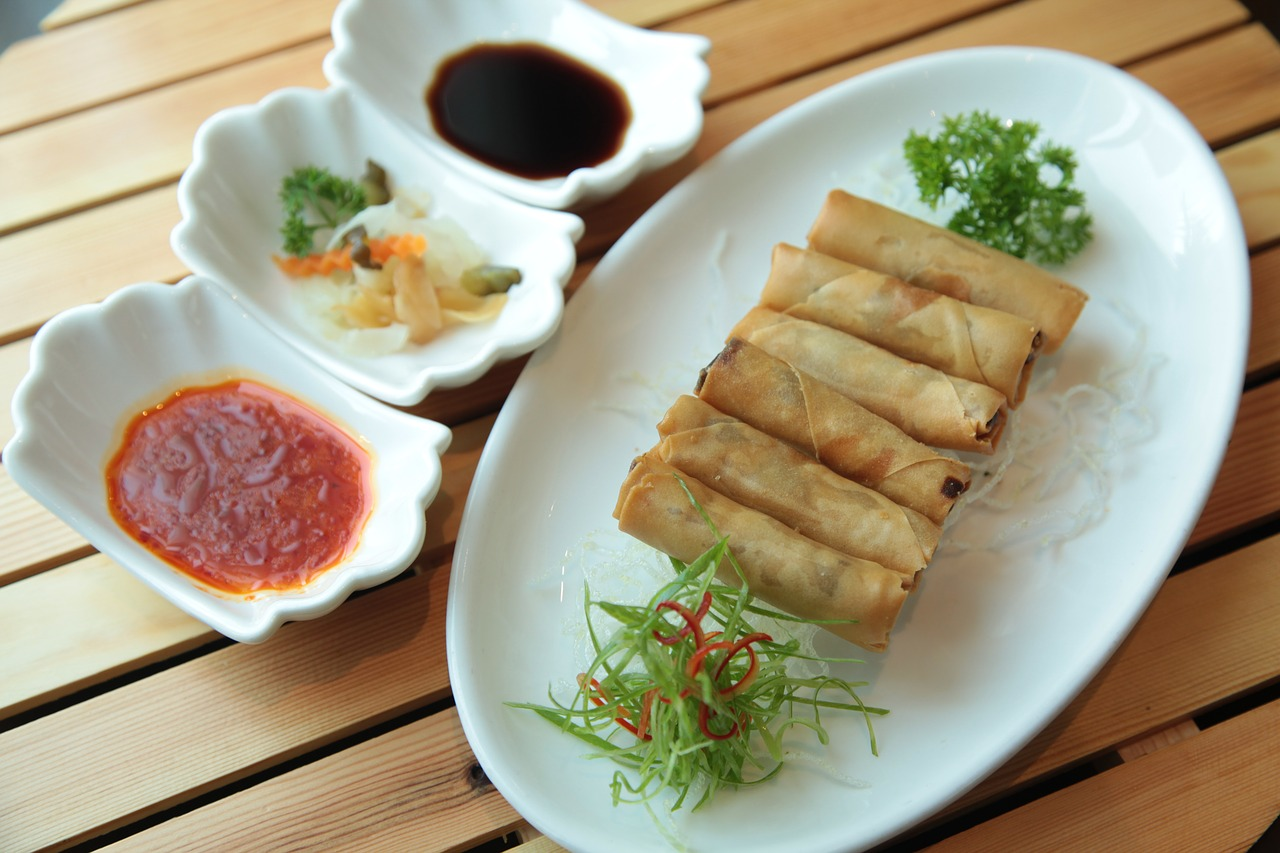 spring rolls chinese cuisine chinese food free photo