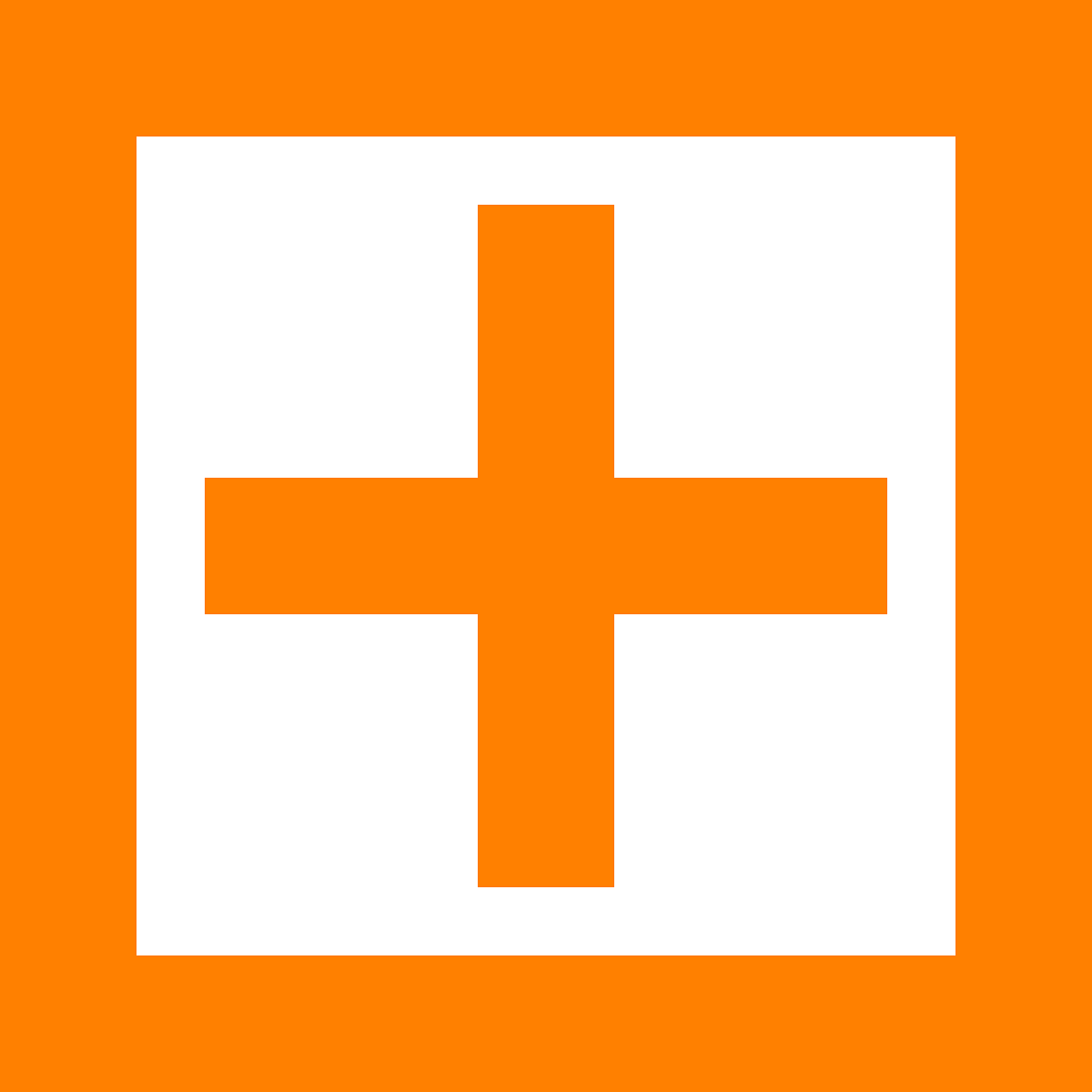 square plus orange free photo