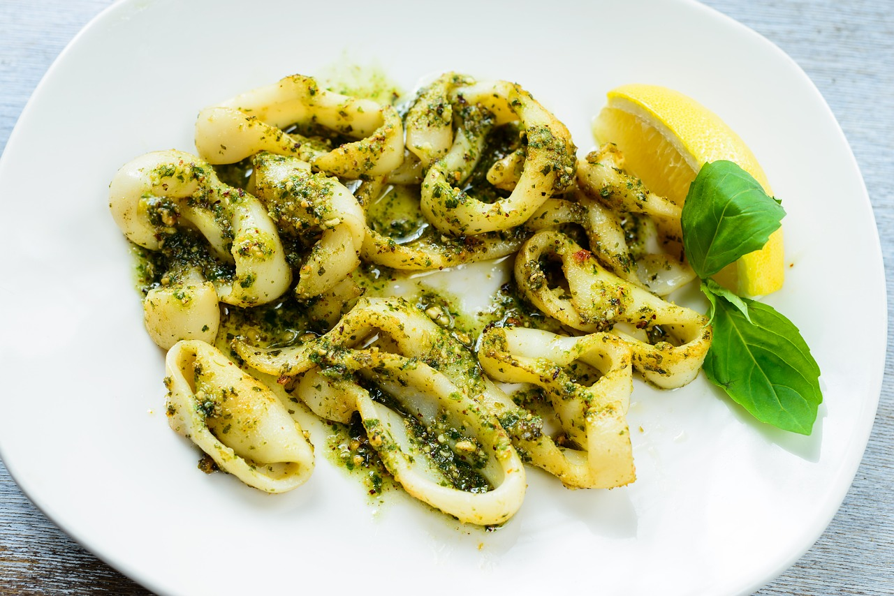 squid antipasti lemon free photo